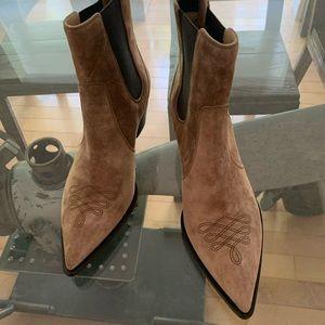 Gianvito Rossi Boots, Austin- Camel color